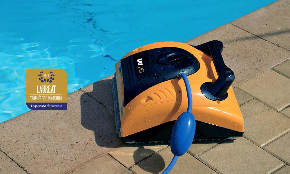 Le robot nettoyeur de piscine collective Dolphin W20 Lauréat du trophée de l'innovation